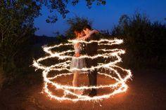 Ideoas de fotos com efeito de sparklers