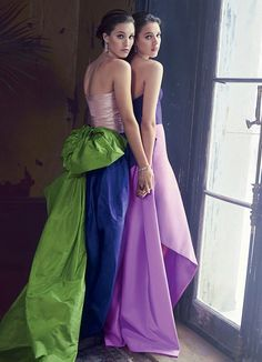 I loved this spread from Vanity Fair. These color blocked gowns are so luxe. I'm always a fan of bold color combos!
