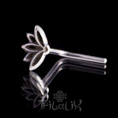 Sterling Silver Lotus Flower Nose Stud