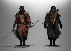 Samurai Concept, Warrior Concept Art, Armor Concept, Monster Concept Art, Fantasy Monster, Dnd Characters, Fantasy Characters, Ghost Of Tsushima, Dnd Art