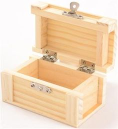Small Wood Chest Box - great for decorating however you wish for home decor or as a gift! less than $2