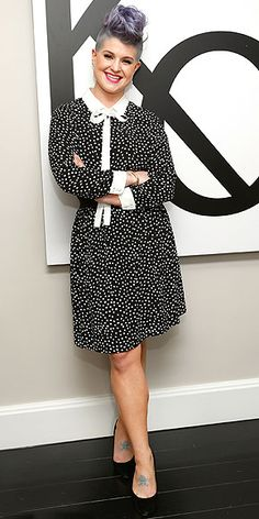 KELLY OSBOURNE We already know that Kelly plans to shower us with polka dots when her debut clothing collection Stories ... By Kelly Osbourne launches next month, so we're not surprised to see her select this printed dress from the line for the brand's launch party in N.Y.C.