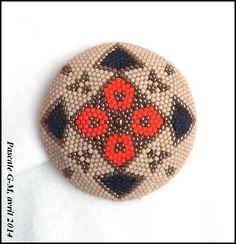 Médaillon peyote, création personnelle