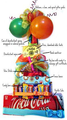 Teacher Supply cake - SO cute for teacher appreciation week! Teacher Supply Cake, Teacher Supplies, School Supplies, Teacher Appreciation Week, Teacher Gifts, Teacher Party, Teacher Birthday, Craft Gifts, Diy Gifts