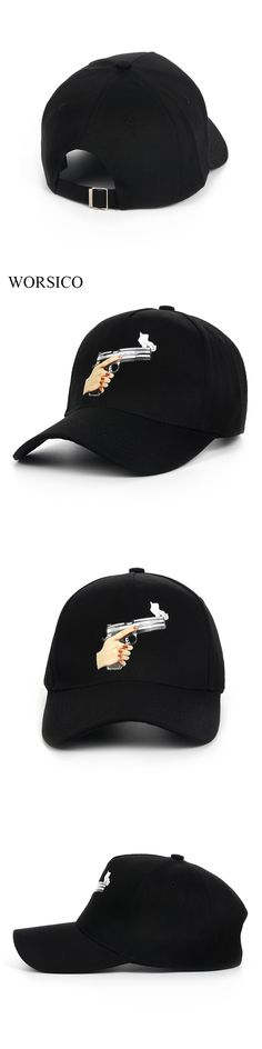 worsico top selling gun baseball cap men fashion 2017 snapback hip hop cap women curve visor hats casquette de marque