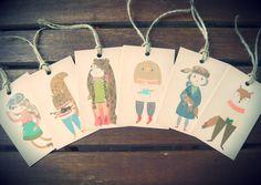sweet folk winter woodland tags
