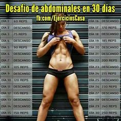 Training to Define Abs in 30 Days Muscle Fitness, Fitness Tips, Health Fitness, Health Club, Physique, Pilates Video, Fitness Planner, Fit Motivation, Gym Girls