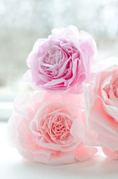 coffee filter flowers garden roses wedding paper flowers