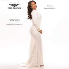 #Lisaraye #Inspired #Collection by #TeboCouture All #White #Everything #SHOPNOW - http://www.tebocouture.com/ Intagram - tebo_couture