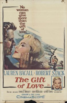 """The Gift of Love 1958 Authentic 27"""" x 41"""" Original Movie Poster Lauren Bacall Drama U.S. One Sheet"""