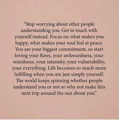 Stop worrying about people shared by Ms. Been