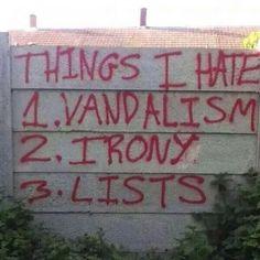 Things I hate...