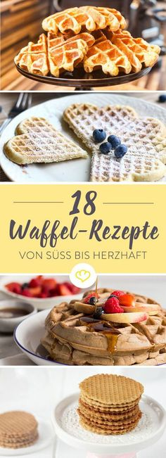 Waffle Recipes - 21 ideas for the big waffle love- Waffel Rezepte – 21 Ideen für die große Waffel Liebe Waffles for breakfast, waffles for afternoon coffee and yes, waffles for dinner – even that works! Mexican Breakfast Recipes, Mexican Food Recipes, Sweet Recipes, Breakfast Waffles, Pancakes And Waffles, Pancake Muffins, Tefal Snack Collection, Best Pancake Recipe, Le Diner