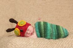 Very Hungry Caterpillar...can my mom make this? Looks like the perfect 1st Halloween outfit!