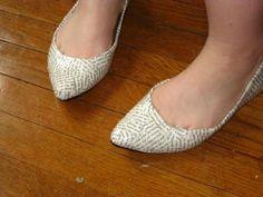 newspaper footwear
