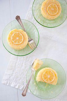 Meyer Lemon Pudding Cakes