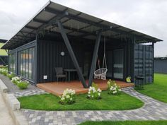 Himik Apartment Hotel - Russia - Living in a Container Building A Container Home, Container Buildings, Container Architecture, Architecture Plan, Sustainable Architecture, Shipping Container Home Designs, Container House Design, Small House Design, Container Cabin