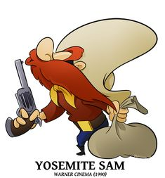 Advertise - Yosemite Sam by BoscoloAndrea on DeviantArt Looney Tunes Characters, Classic Cartoon Characters, Looney Tunes Cartoons, Cartoon Jokes, Favorite Cartoon Character, Classic Cartoons, Cool Cartoons, Comic Character, Cartoon Art