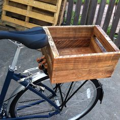 Bike box - made this from oak pallet wood.