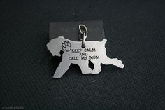 Free Shipping - Black Russian Terrier Tchiorny Schnauzer Dog Tag - Stainless steel - Customized Pet ID Tag - Personalized Pet ID Tags