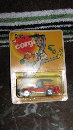 CORGI BUGS BUNNY CAR Metal Toys, Tin Toys, Corgi Husky, Corgi Toys, Bugs Bunny, Toy Boxes, Looney Tunes, Vintage Toys, Childhood Memories