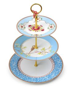 Love this Blue Tiered Cake Stand on #zulily! #zulilyfinds