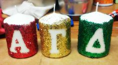 I finally did the AGD candles I have been talking about all summer! #red #buff #green #AGD