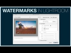 This video nicely shows how to add a watermark in Lightroom 5 | IceflowStudios - YouTube