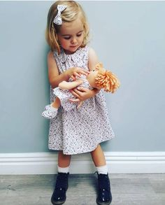 Ruby and her Molly Dolly  the cuteness @tanyanoonan  . We will have a full size range of this fab floral set along with Molly Dolly Ragdolls & acc to match @pregnancyandbabyfair on Oct 7th & 8th  . . #linzyo #linzyobrandrep #ruby #toddlermodel #kidmodel #kidsofinstagram #igkids #igkidsfashion #pregnancyandbabyfair #mollydolly #ragdolls #twinning #matchingdoll