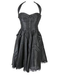 Ursula Dress Black by Hell Bunny.