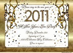 NY eve party invitations - Google Search