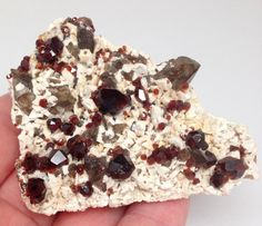 Red Garnet Smoky Quartz Crystal: KUNDALINI - GROUNDING - MANIFESTING..An amazing crystal healing stone addition for your meditation room, reiki room, spiritual work, metaphysical, and devotional altar offering work.Energy+Healing+Crystals+Red+Garnet+Smoky+Quartz+Manifesting+Kundalini+Wiccan+Metaphysical+Stones