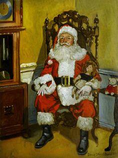 Antique Santa Painting by Doug Strickland - Antique Santa Fine Art Prints and Posters for Sale