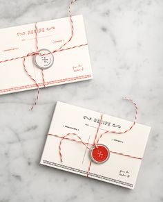 so perfect for the holidays! letterpressed recipe cards {Love & Lemons}