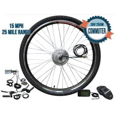 ModWheel 26 Inch Commuter Front Wheel Electric Bike Kit Offering an affordable upgrade with high-quality components, the ModWheel 26 Inch Commuter Front Wheel Electri Electric Bike Kits, Electric Motor, E Bike Kit, Bicycle Wheel, The Way Home, Regular Exercise, Feel Tired, Bag Storage, How Are You Feeling