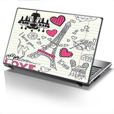Laptop Cover PARIS LOVE by Sticky!!!