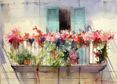 Fábio Cembranelli - A Painter's Diary: Old Balcony in Tuscany