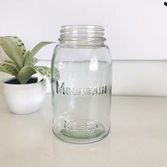 A personal favorite from my Etsy shop https://www.etsy.com/listing/499019180/vintage-mountain-mason-canning-quart-jar