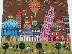 Pisa  Hoy nos toca hacernos la tradicional foto sujentando la Torre inclinada de Pisa.  No podemos dejar de tener nuestra propia postal y tampoco tenemos que dejar de subir los 300 escalones que nos llevarán hasta la cúspide de la torre para poder admirar la ciudad de Galileo.  Bonita ciudad llena de historias y leyendas y con gran aroma proveniente de la Toscana.