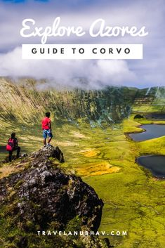 With a population of around 450 inhabitants, Corvo Island is the smallest island of Azores Islands located near Portugal in North Atlantic ocean. Crater Lake, Azores, Small Island, Atlantic Ocean, Volcano, Travel Pictures, Islands, Natural Beauty, Portugal
