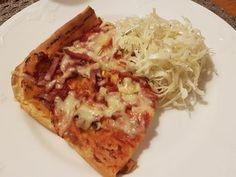 Jag snubblade över en helt genialisk rätt hos Sara som driver bloggen Vardag.nu, nämligen Pizzapannkaka . Eller Pannkakspizza om man hellre ... Hawaiian Pizza, Junk Food, Japanese Food, Lchf, I Foods, Vegetable Pizza, Cake Recipes, Delish, Cabbage