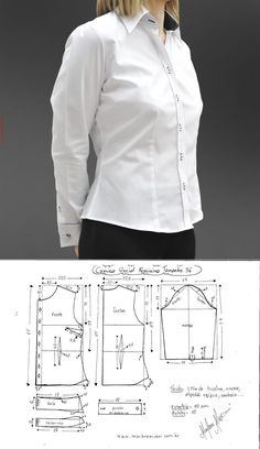 Jacket Pattern Top Pattern Dress Making Patterns Blouse Patterns Clothing Patterns Sewing Patterns How To Make Clothes Diy Clothes Diy Dress Dress Sewing Patterns, Blouse Patterns, Sewing Patterns Free, Clothing Patterns, Make Your Own Clothes, Diy Clothes, Blouse Tutorial, Sewing Blouses, Pattern Drafting