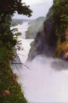 Murchison Falls, one of the most dramatic and powerful falls on the continent. When I visited it, they called it the source of the Nile