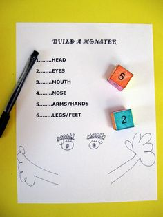 Play this game that lets you create your own silly monster drawing and helps your child practice her counting skills!