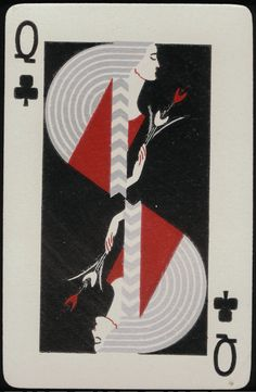 queen of clubs // Sovereign playing cards, USA 1930