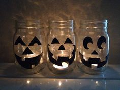 Nearly free, jar jack o'lanterns!