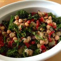 Warm Eggplant, Broccolini And Chickpea Salad Recipe   Triathlete Magazine