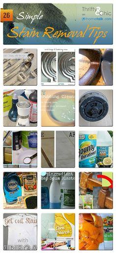 26 Simple Stain Removal Tips