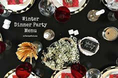 Today I'm sharing a Winter Dinner Party Menu, with all the details of a warm, cozy gathering for your next in-home dinner party!