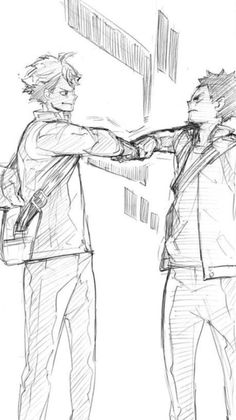Oikawa and Iwaizumi's farewell in Haikyuu volume 17 bonus chapter